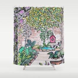 Val's Beautiful Garden Shower Curtain