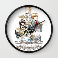 attack on titan Wall Clocks featuring OriSor Shingeki No Kyojin Royal Fanart  Attack on Titan by Mistiqarts by Mistiqarts