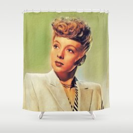 Evelyn Keyes, Vintage Actress Shower Curtain