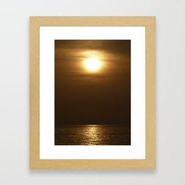 Sunset in tarifa Framed Art Print