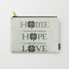 Home Hope Love Shamrock Carry-All Pouch