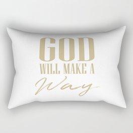 God will make a way,Christian,Bible Quote Rectangular Pillow
