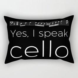 Yes, I speak cello Rectangular Pillow