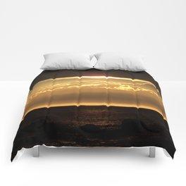 Bronze Seascape Sun rays Comforters