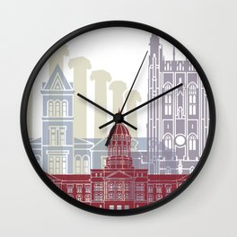 Columbia MO skyline poster Wall Clock