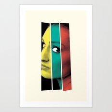 The girl Art Print