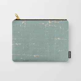 Abstract Mod Cube Teal mid century modern Texture grunge vintage colors Carry-All Pouch