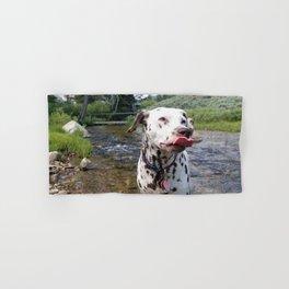 Charlotte Mid-Slurp -- Dalmatian Tongue Hand & Bath Towel