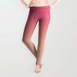 Peachy Striped Ombre Leggings