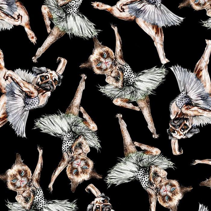 Hipster Ballerinas - Dog Cat Dancers Leggings