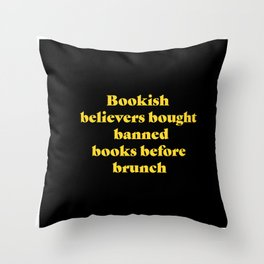 bookish believers Throw Pillow