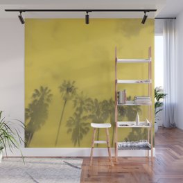 Yellow Palms Wall Mural