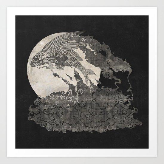 Ocean Moon  Art Print