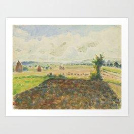 Camille Pissarro 1830 - 1903 LANDSCAPE ERAGNY, CLEAR Art Print