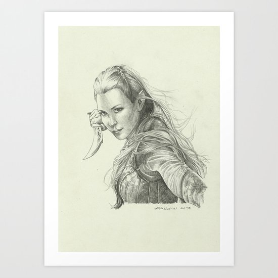 Daughter of Mirkwood Art Print