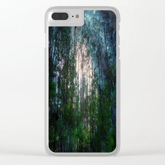 Mystic Forest Clear iPhone Case