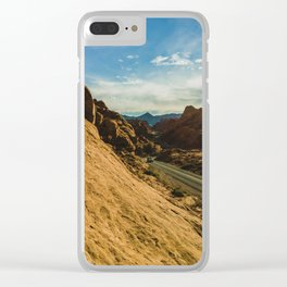 driving through fire Clear iPhone Case