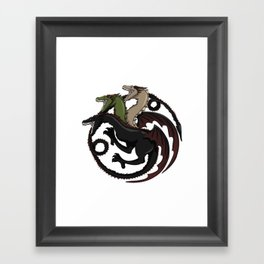 Fire and Blood Framed Art Print
