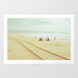 Beach, plage, dans la brume Art Print