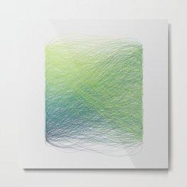 Hue Remix Greens Metal Print