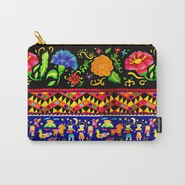 Feathers and Stripes Carry-All Pouch