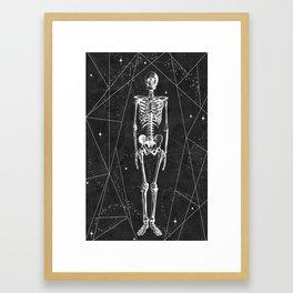 Oh Shit... a Skeleton... Framed Art Print