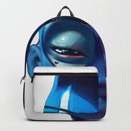 Black Rabbit Blue Backpack
