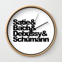 Satie and Bach and Debussy and Schumann, Classical Music Composers, circle by alma_design