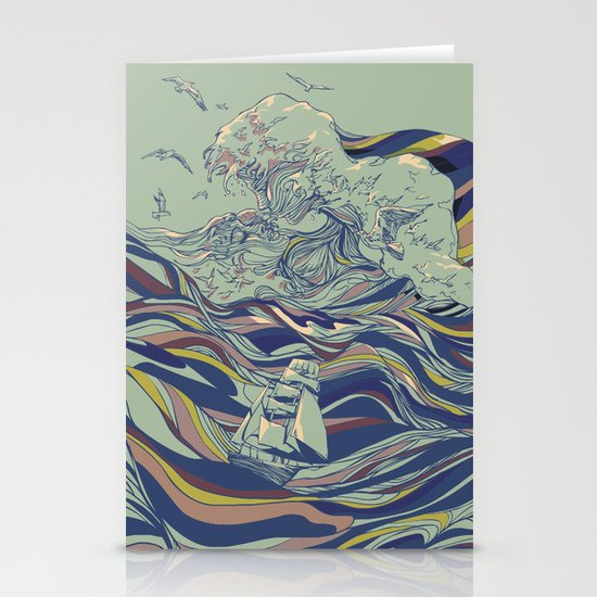 OCEAN AND LOVE Stationery Cards