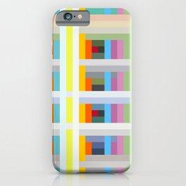 colorful geometric pattern design Negret iPhone Case