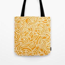 Mustard yellow line pattern Tote Bag