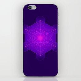Metatron | Cube | Secret Geometry | Platonic | Matrix | Protects children iPhone Skin