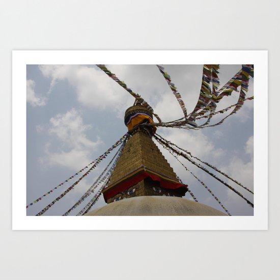 Bodhinath Stupa Art Print