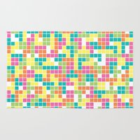 tetris Area & Throw Rugs featuring Tetris by Alisa Galitsyna