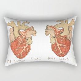 My Heart Likes Your Heart Rectangular Pillow