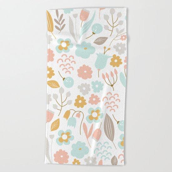 Cute flower pattern Beach Towel