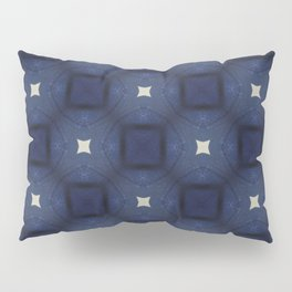 Blue and White Square Pattern Pillow Sham