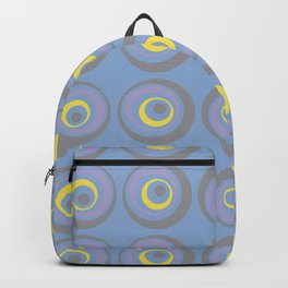 Geometric Wacky Circle Pattern V16 Color of the Year 2021 Illuminating Yellow and Accent Shades Backpack