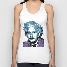Blue Einstein Unisex Tank Top