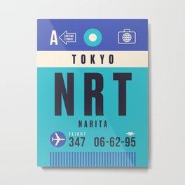 Baggage Tag A - NRT Tokyo Narita Japan Metal Print
