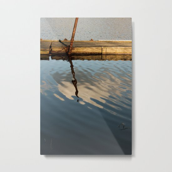 Two Waters and a Cloud Metal Print