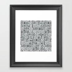 math doodle silver Framed Art Print