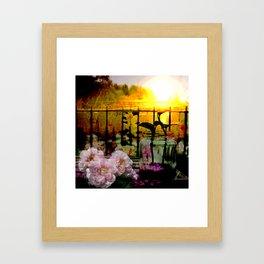 Sunset Balcony Framed Art Print