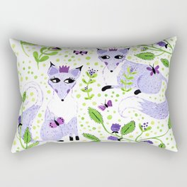 Lavender Foxes Rectangular Pillow
