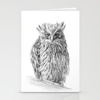 buffy Stationery Cards featuring The Buffy Fish Owl by Asya Mitskevich
