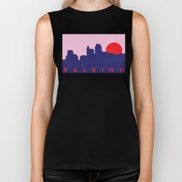 Raleigh Night Skyline Biker Tank