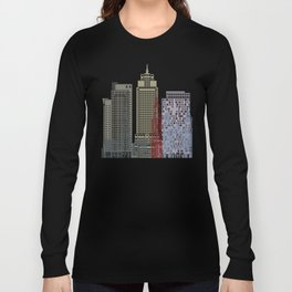 Amsterdam V2 skyline poster Long Sleeve T-shirt
