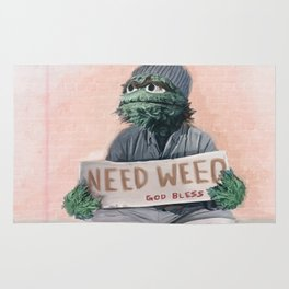 The Grouch Needs Weed Rug