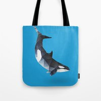 killer whale Tote Bags featuring Killer Whale by The animals moved to - society6.com/dian