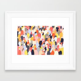 Crowded Framed Art Print